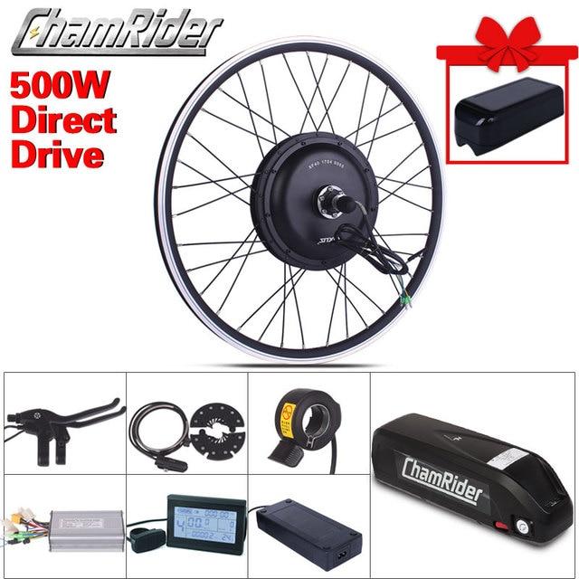 Ebike elektrikli bisiklet dönüşüm kiti XF39 XF40 Motor MXUS marka Hailong 1 2 pil 500W 48V 13AH 52V 17AH LED LCD Freehub