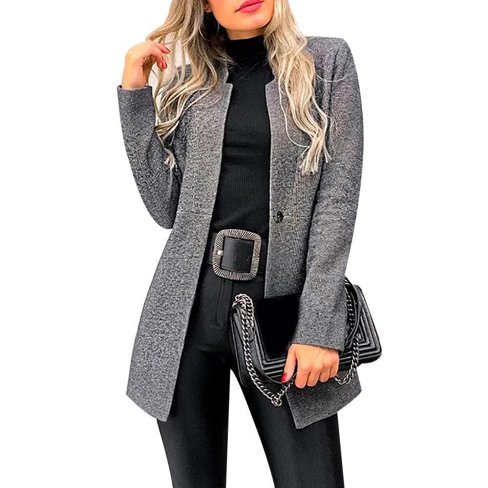 Fashion Elegant Coats Long Sleeve Women Coats Solid Color Casaco Feminino Cardigan 2019 Autumn Slim Overcoats Thin Outerwear D30