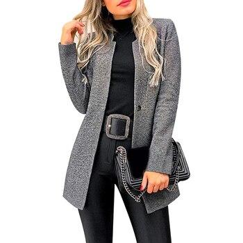 Fashion Elegant Coats Long Sleeve Women Coats Solid Color Casaco Feminino Cardigan 2019 Autumn Slim Overcoats Thin Outerwear D30 sweet solid color collarless long raglan sleeve cardigan for women