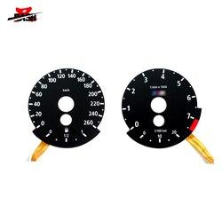 DASH Brand New EL glow gauge for E60 E70 E90 260km 7500 RPM Black Panel Reverse White Light 525i 530i 535i 320i 325i