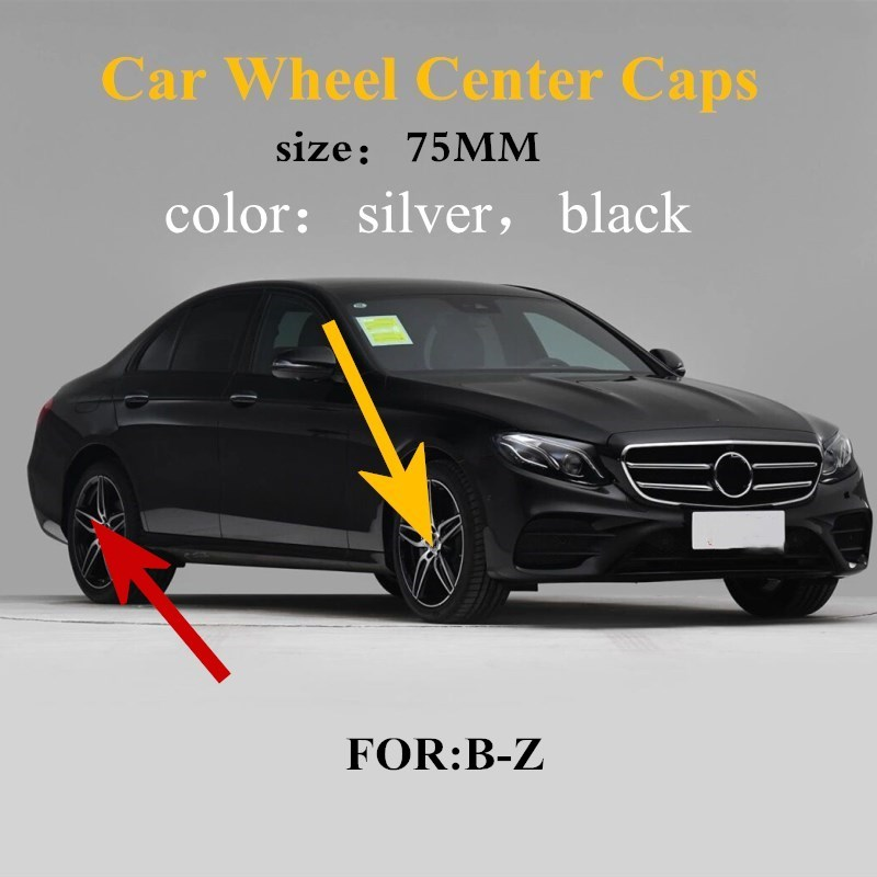 4 шт./лот 75 мм черные колпачки для центра колеса Колпачок для обода колеса Колпачок Эмблема Для Mercedes для G M R S E GLK GLC GLS Стайлинг