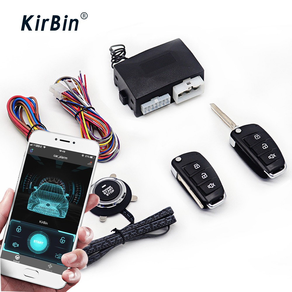 Система зажигания KirBin 12 В, Автомобильная сигнализация, кнопка запуска и остановки, защита от центрального замка, автомобильный модуль Bluetooth, центральный замок