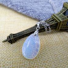 Модное ожерелье из натурального хрусталя с подвеской сплава