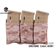 emersongear Emerson Triple Magazine Pouch 5.56 Mag Pouch Molle Webbing Open-Top Nylon Tactical Waist Pouch Portable Mag Holder цены онлайн