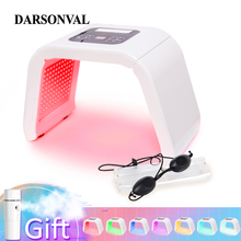 7 색 PDT 광자 LED 마스크 얼굴 빛 안티 에이징 기계 치료 피부 젊 어 짐 여드름 리무버 안티 링클 스파 뷰티