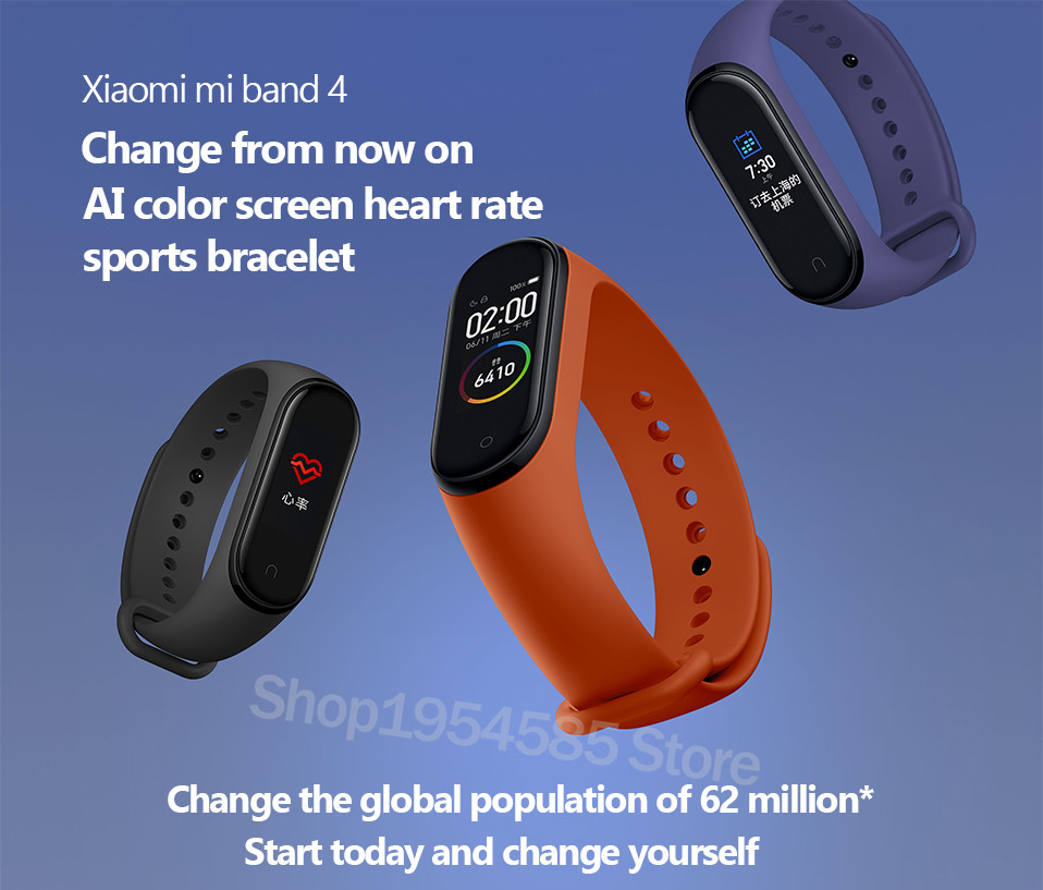 Xiaomi Mi Band 4 Smart Watch Standard Version Heart Rate Activity Fitness Tracker Smart Band Bracelet Colorful Display 2019 New (11)