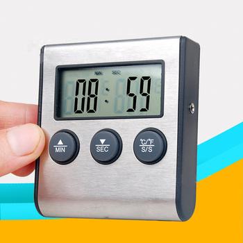 Cyfrowy termometr piekarnika do kuchni do jedzenia gotowanie mięso BBQ termometr z sondą z zegarem temperatura wody mleko narzędzia kuchenne tanie i dobre opinie hoomall Ciśnienie termometr 49 ° C i Pod DIGITAL Aaa baterii Stojąc i Wall Hanging 1 9 Cali i Pod