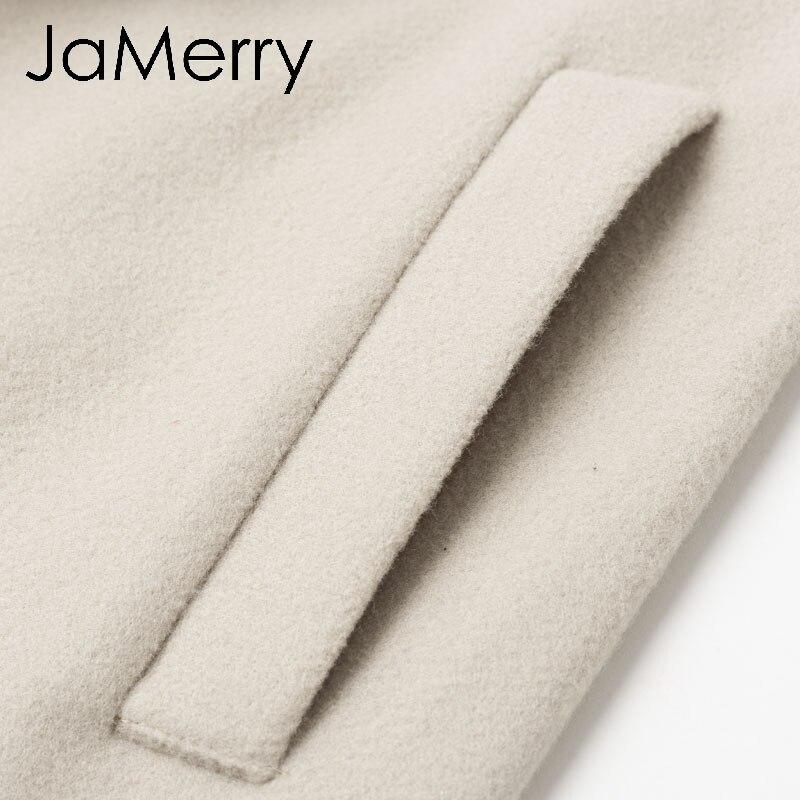 Jamerry casaco longo feminino, pinça vintage, manga