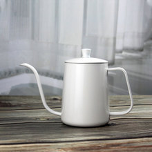 350ml 600ml Gooseneck Drip Kettle Non-Stick Food Grade Stainless Steel Thin Mouth Swan Neck Coffee Tea Pot With Lid Coffeeware