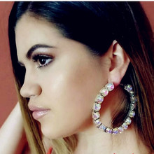 Earrings-Accessories Jewelry Crystal Trendy Women New-Arrival Maxi Collection Party-Dress