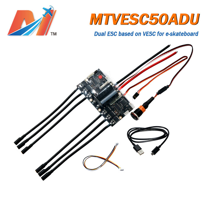 Maytech Dual VESC Based Controller Electric Skateboard Longboard Dual ESC Based On VESC Vedder Pcb BLDC Speed Controller