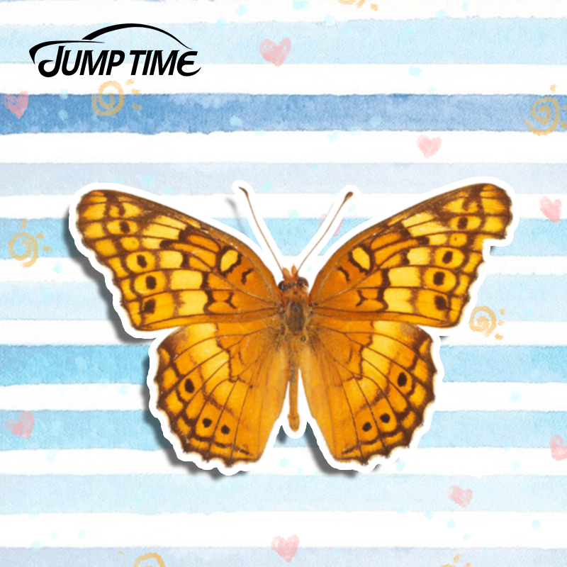 Jump Time 13cm x 8.3cm <font><b>Camouflage</b></font> Butterfly Car <font><b>Stickers</b></font> Funny Vinyl Decal Laptop Luggage Car <font><b>Bike</b></font> Waterproof Car Accessories image