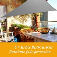 5X5X5m Triangular Shade Sail Net Outdoor Swimming Pool Waterproof Sunscreen Sun Protection Uv Awning Home Garden Home Awning