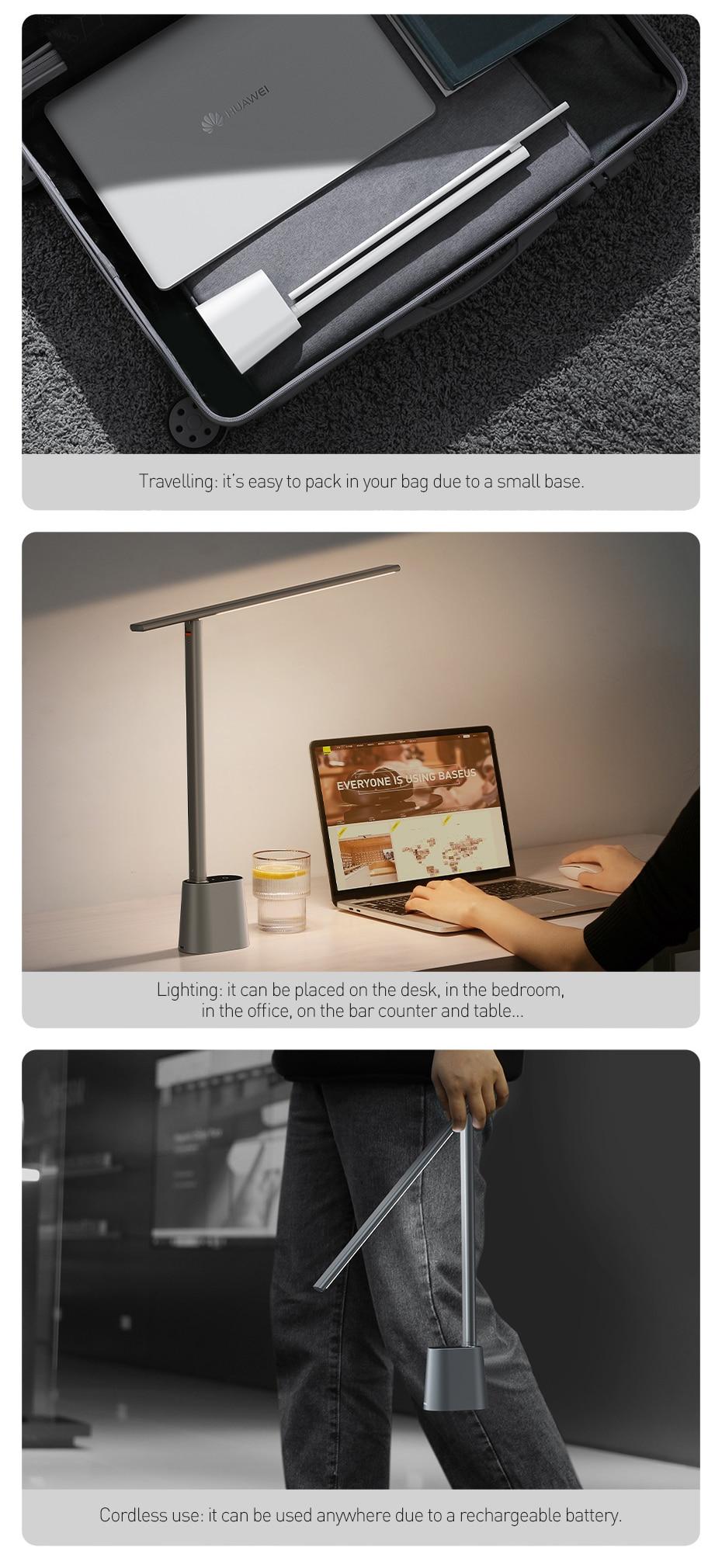 Baseus Smart Eye Series Rechargeable Folding Reading Desk Lamp 6