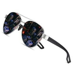 AOFLY DESIGN Men Vintage Metal Polarized Sunglasses Classic Original Brand Sun glasses TAC Lens Driving Male Shades For Women