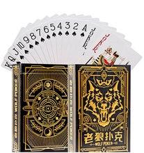 Wilkołaki karty do pokera wytłaczanie na gorąco proces niebieski rdzeń papieru talii kart do gry gra planszowa gry podróżnicze
