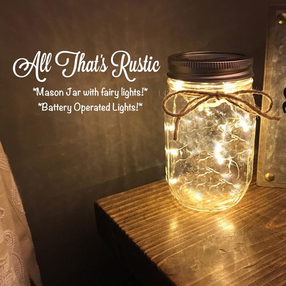 Gl Solar Mason Jar Light Bottle Lamp