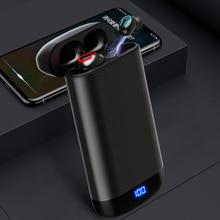 Q66 Bluetooth наушники HD стерео двойной микрофон беспроводные V5.0 наушники спортивная водонепроницаемая гарнитура с 6000 мАч зарядным устройством