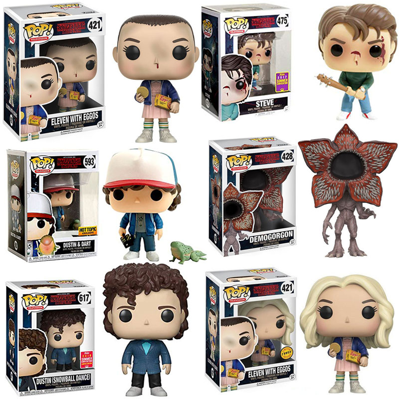 FUNKO POP Stranger Things Eleven Dustin Dart Dustin Snowball Dance Steve Vinyl Action Figure Toys For Children Christmas Gift