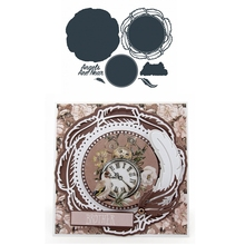 Metal Cutting Dies Angels Are Near Round Background Feather Border Die Cuts For Card Making Scrapbooking 2019 Crafts Cards