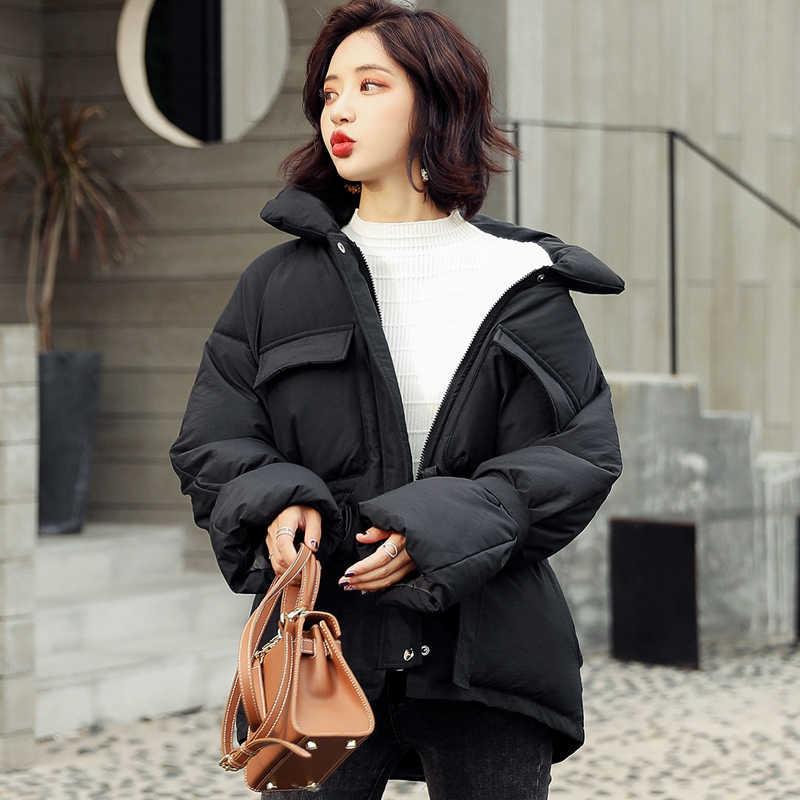 Kurtka jesienno-zimowa płaszcz damski regulowana talia stojak kobieta kurtka zimowa kobieta Parka ciepły płaszcz w dużym rozmiarze kurtka parki