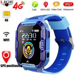 2020 New Elegante blu smart watch per i bambini bambini di Sostegno 4Gsim carta di Collegamento WIFI a fare una chiamata video GPS tracker SOS Del Capretto della vigilanza