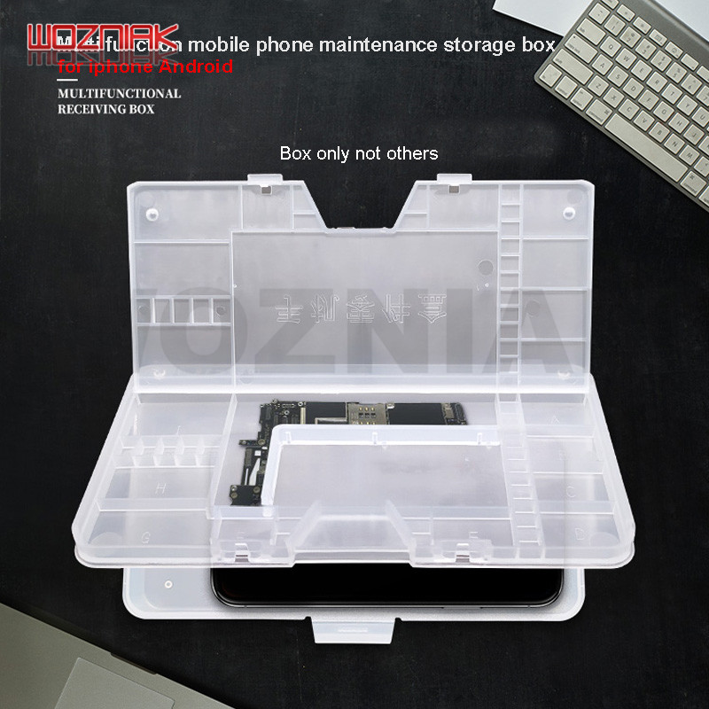 Universal Mobile Phone LCD Screen Mainboard Spare Parts IC CHIP Double-deck Storage Box For Iphone Android