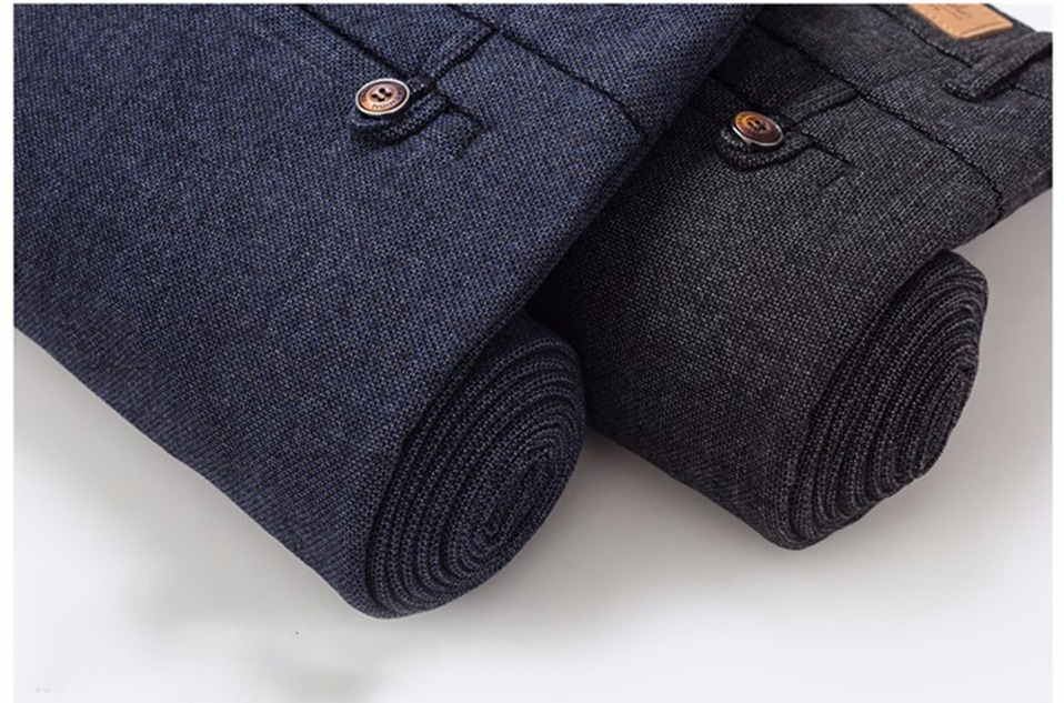 H0e1f934f9fe0413a947e9cb948491514e HCYX Brand 2019 four season Classic High quality Men's Casual Pants Trousers Men Casual Pants Business Straight Size 38
