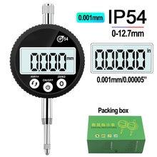 Indicador digital à prova d'água ip54, indicador digital 0-12.7mm, 0.001mm, 0.00005