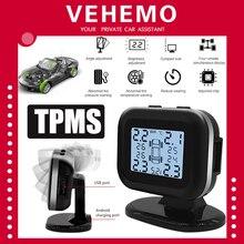 TPMS USB Солнечная Android Прикуриватель разъем TMPS монитор давления в шинах Tmps высокая температура 4 датчика для Honda для Toyota