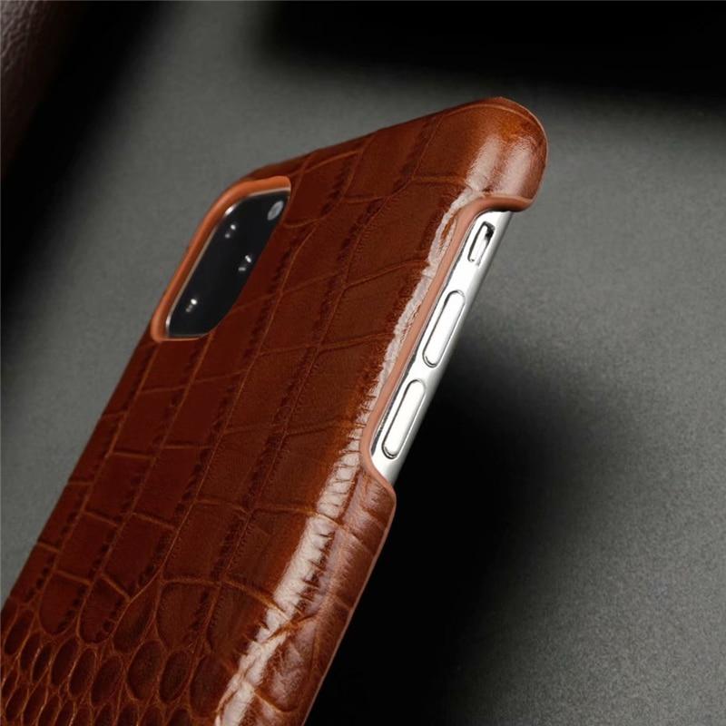Genuine Leather Crocodile Grain Case for iPhone 11/11 Pro/11 Pro Max 6