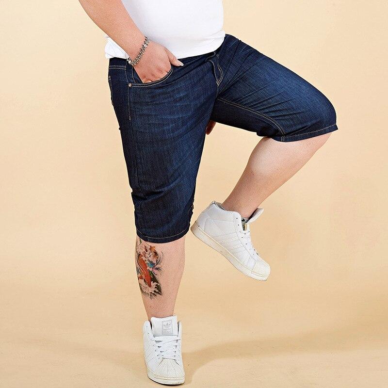 Summer Fashion Men's Jeans Shorts Elastic Short Ripped Jeans Homme Knee Length Streetwear Punk Style Hip Hop Denim Shorts Men