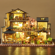 Diy Doll House Wooden Doll House Mini Doll House Japanese Double Deck Villa Exquisite Furniture Set Children's Toys And Gifts