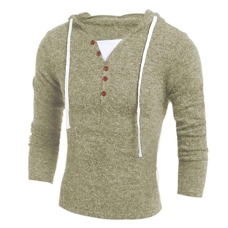 design de moda sólido com capuz camisola