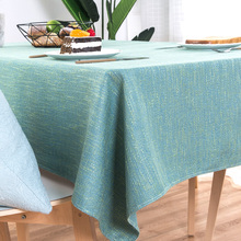 Скатерть для стола, рождественские украшения, домашняя скатерть для стола, льняная однотонная, Ins Wind, современный, простой, прямоугольный кофе