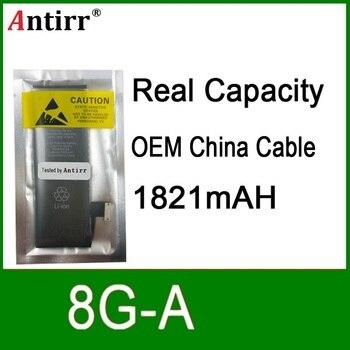 10pcs/lot Real Capacity China Protection board 1821mAh 3.7V Battery for iPhone 8G zero cycle replacement repair parts 8G A
