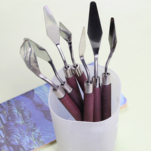 Oil Painting Knives Stainless Steel Spatula Palette Knife Oil Painting Mixing Knife Scraper Artist Crafts Art Tools Supplies