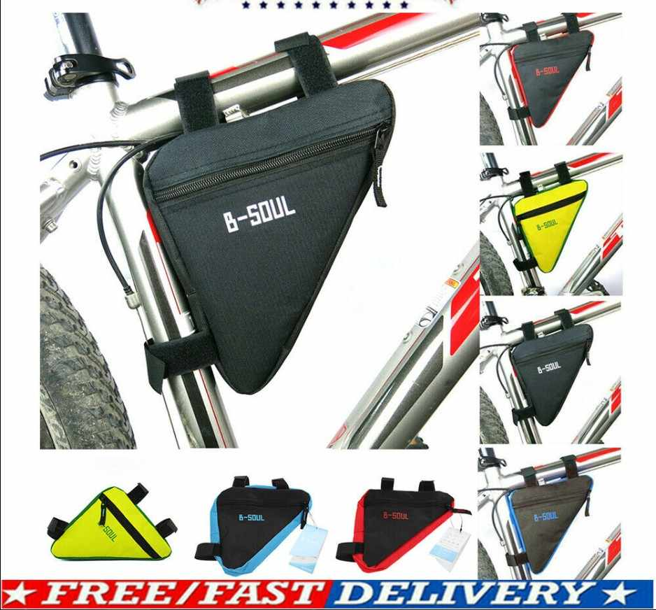 Waterproof Triangle MTB Cycling Bicycle Bike Front Frame Pouch Bag Holder Saddle