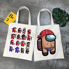 Game Among Us Video Game Street Style Cartoon Graphic Cartoon Print Shopping Bags Girls Fashion Casual Pacakge Hand Bag