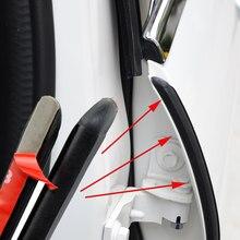 Remplisseuses de joints en caoutchouc pour porte de voiture, 2 pièces, pour Skoda Octavia Yeti Roomster Fabia Rapid Superb kodiaj Citigo KAMIQ KAROQ