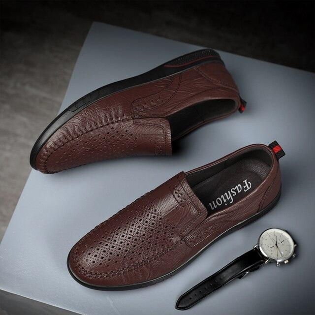 Фото мужская повседневная обувь ручной работы из натуральной кожи;