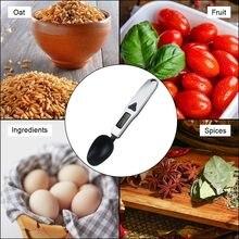 500g/0,1g Портативный ЖК-дисплей цифровой Кухня мерная ложка-весы грамм электронный Ложка Вес аудио-разъемом Еда весы грамм Кухня весы
