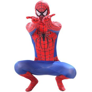 spider Costume Man cosplay Miles Morales Zentai Spider boy pattern Bodysuits Children's spider Halloween Anime