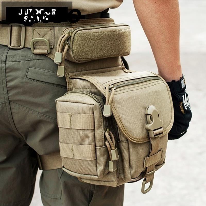 Bolsa de pierna táctica militar impermeable 800D bolsa de pierna Tactica militar herramientas de caza riñonera Paquete de muslo para motocicleta
