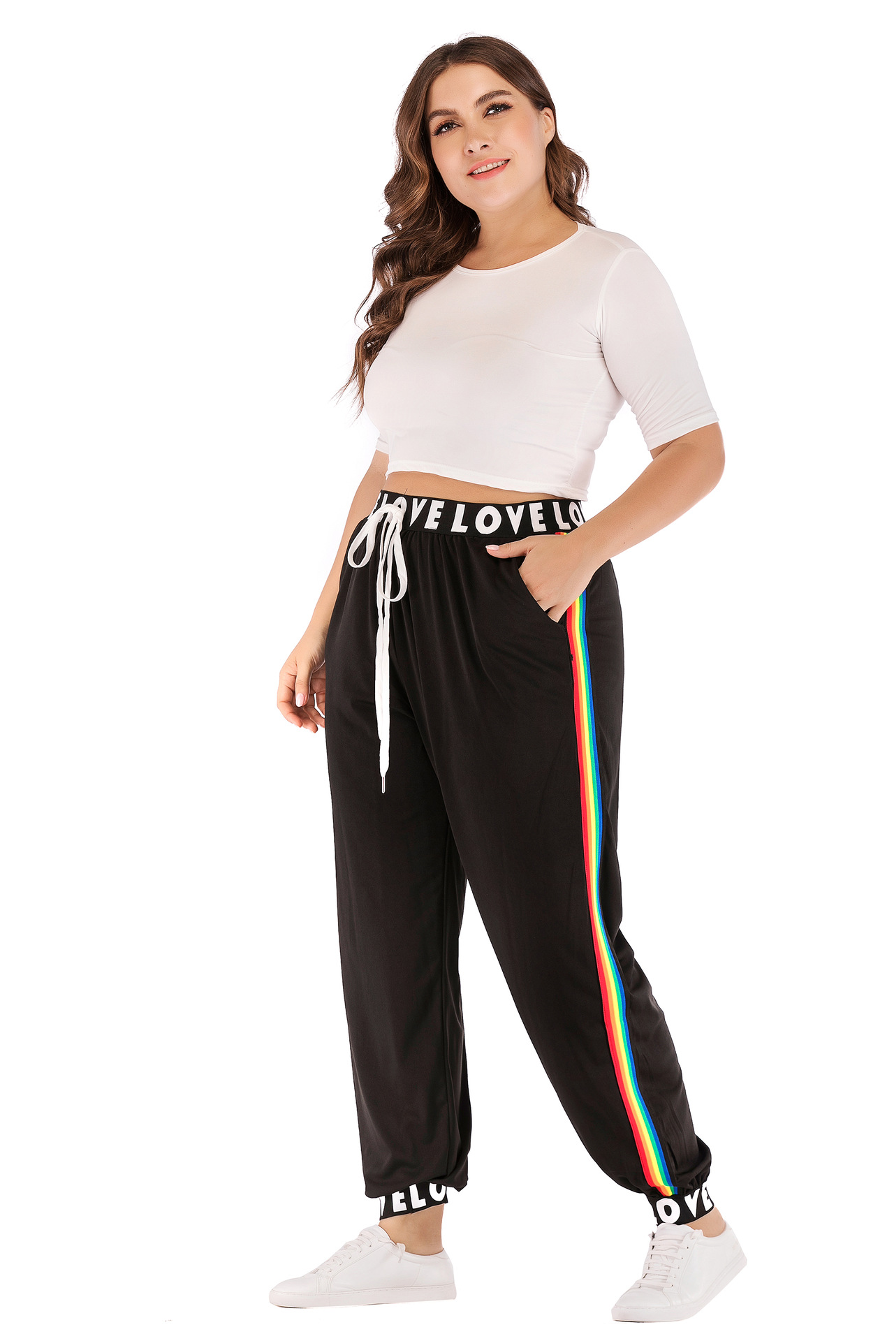 Fashion New Style Is Large Size Dress WOMEN'S Sport Pants Fitness Casual Pants Europe And America Hot Sales Large GIRL'S