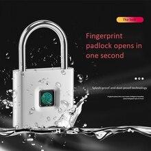 Безопасность Keyless USB Перезаряжаемый дверной замок отпечаток пальца Умный Замок быстрая разблокировка