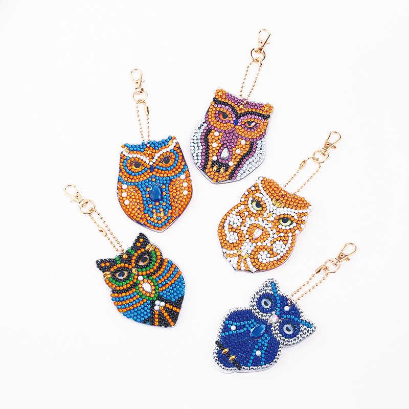 DIY Special Shaped Full Drill Diamond Painting Keychain Kits Bag Decor Kid Gifts