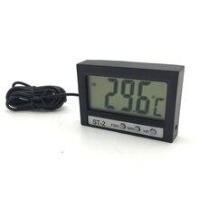 Digital ST-2 Thermometer LCD Display Aquarium Fish Tank Thermostat with Temperature Sensor