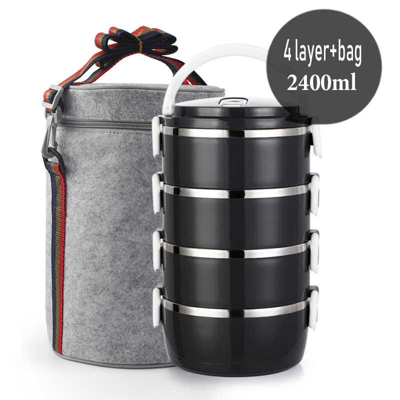 Aço inoxidável preservação do calor lancheira 1 peças adulto negócio bento caixa recipiente de alimentos para crianças portátil piquenique escola