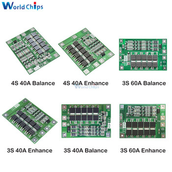 3S/4S 40A 60A Li-ion Lithium Battery Charger Protection Board 18650 BMS For Drill Motor 11.1V 12.6V/14.8V 16.8V Enhance/Balance image